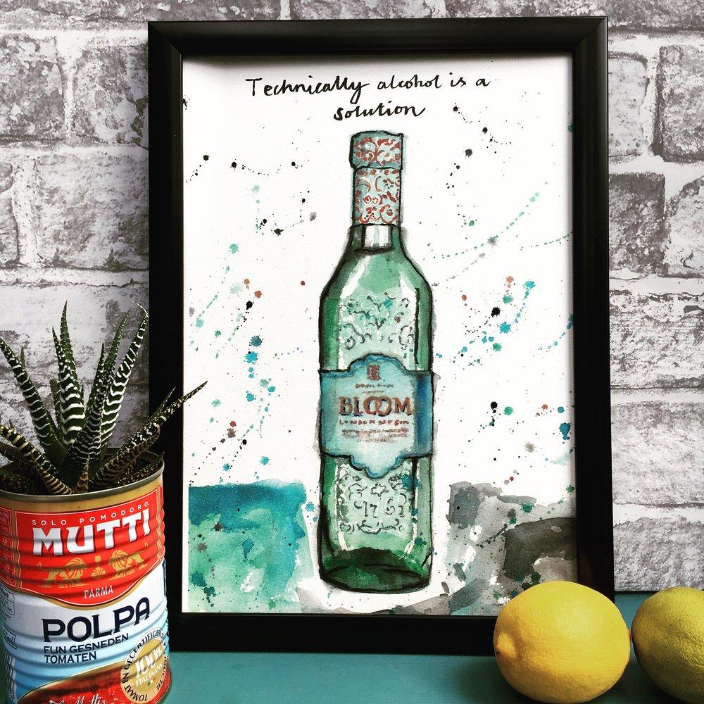 Bloom Gin Print