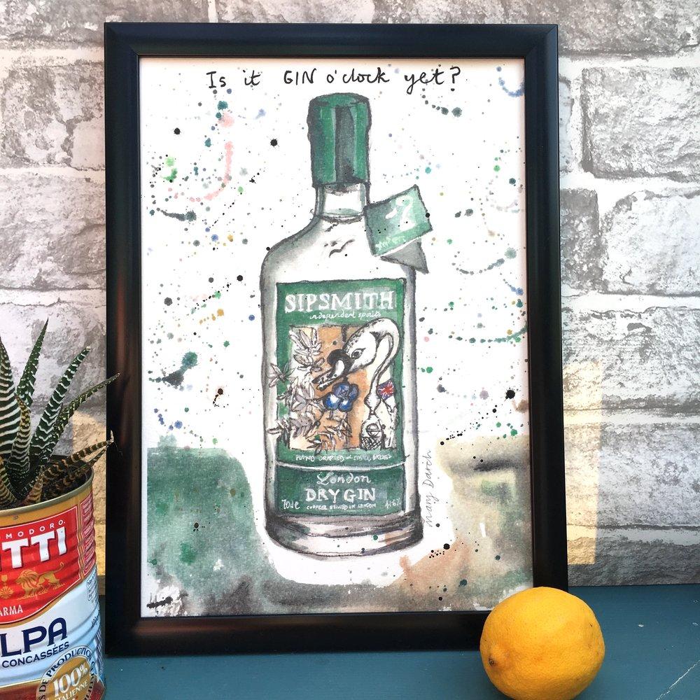 Sipsmiths Gin Print