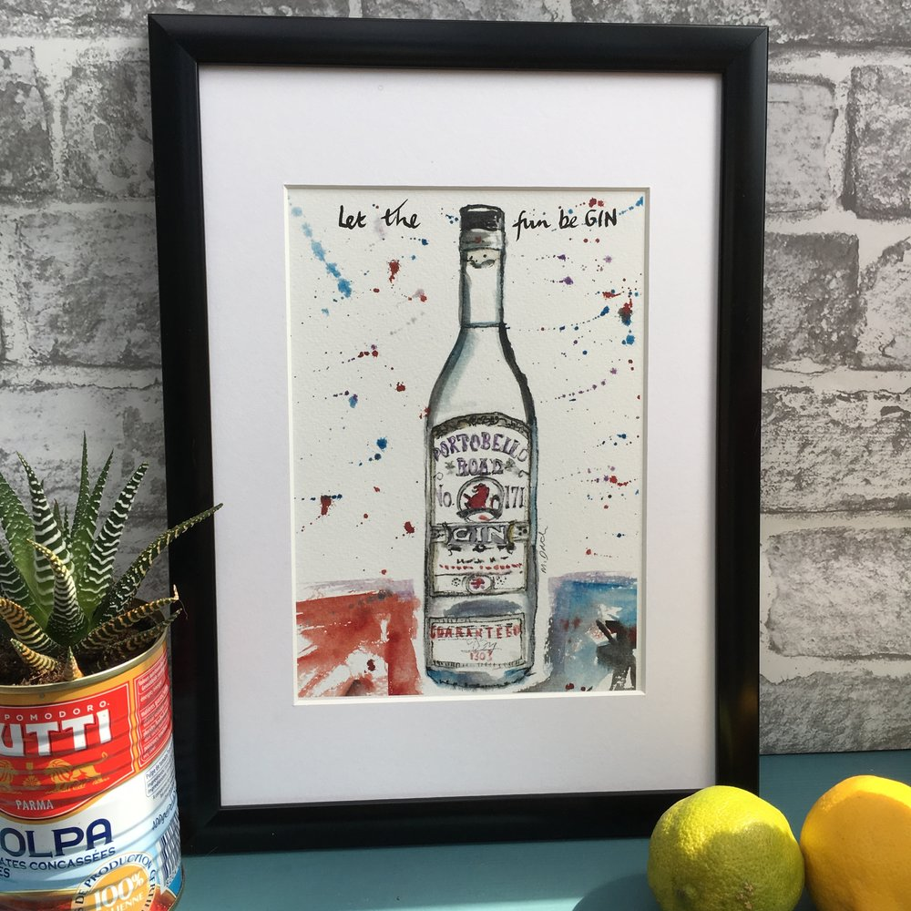 Portobello Gin Print