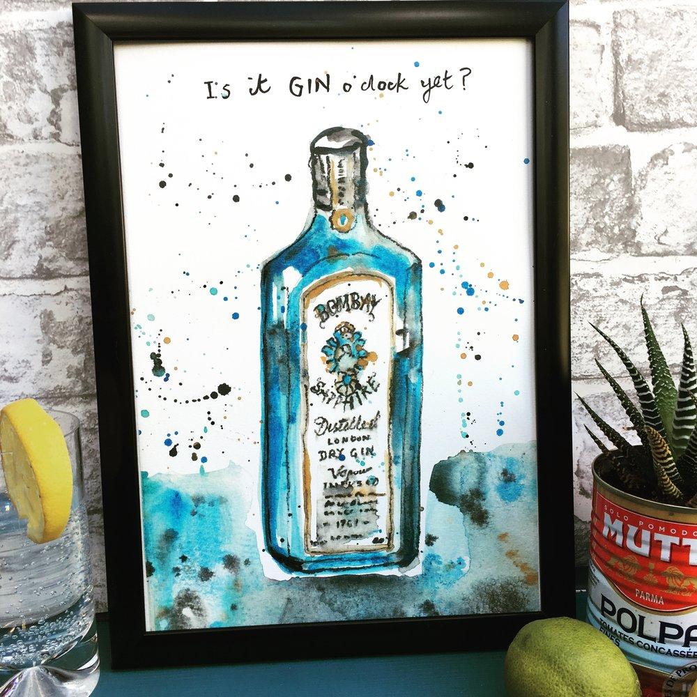 Bombay Sapphire Gin Print