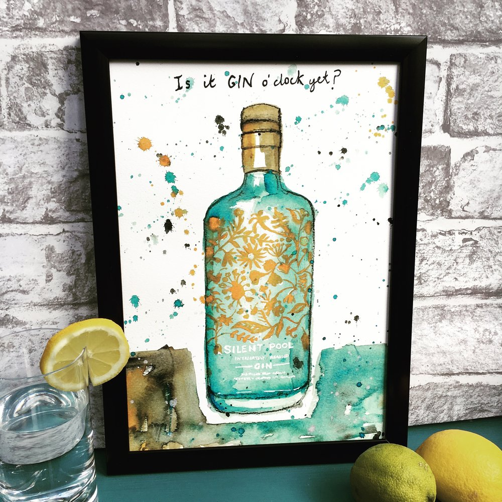 Silent Pool Gin Print