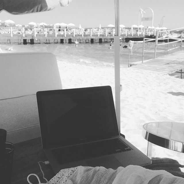 Today's edit suite. Not bad #canneslions