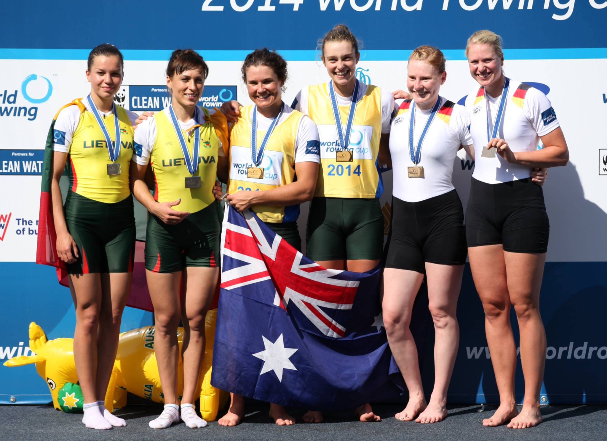 Sally Kehoe - gold in women's double scull - World Cup 1 2014