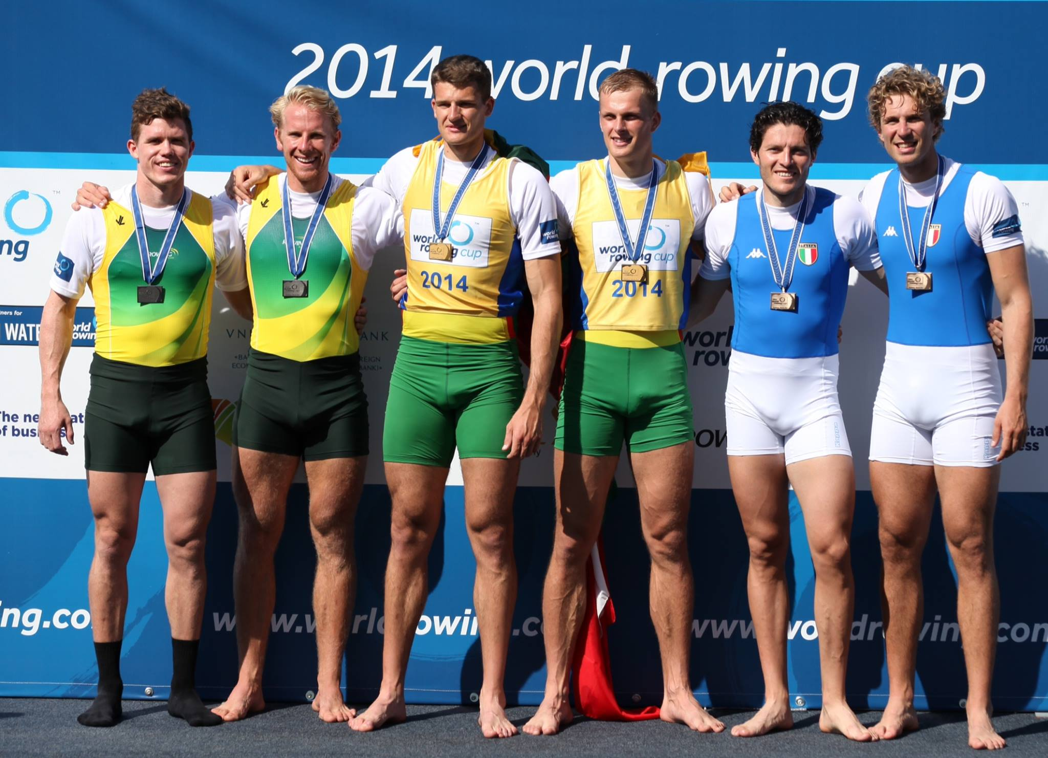 Sasha and Cam - silver in the men's double - 2014 World Cup 1