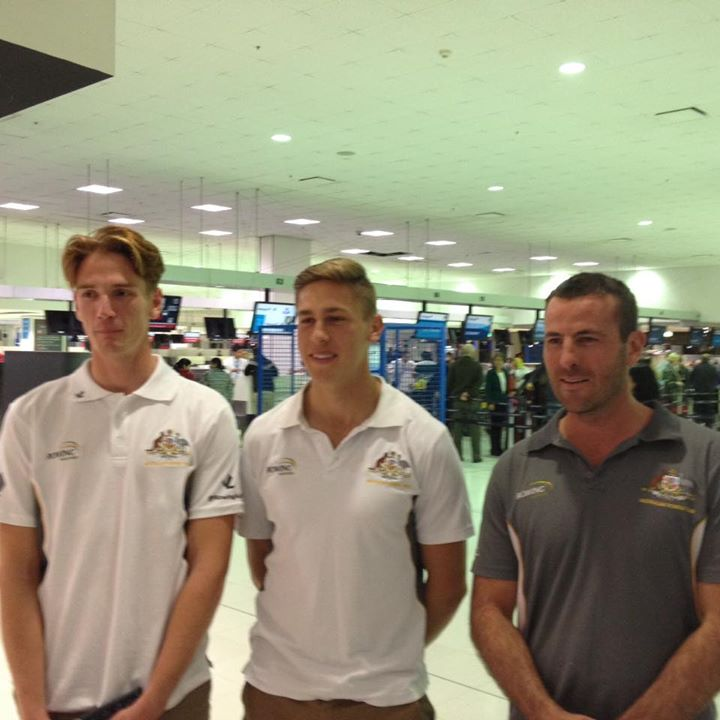 Aus Men Pair 2015 leaving