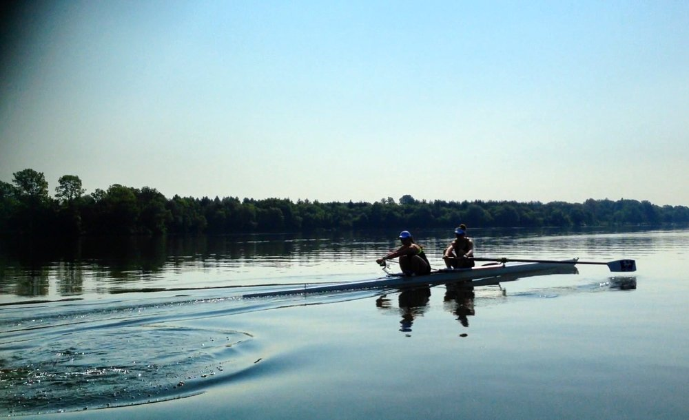 SUBc U23 Women's Pair training at Canadian Henley 2017
