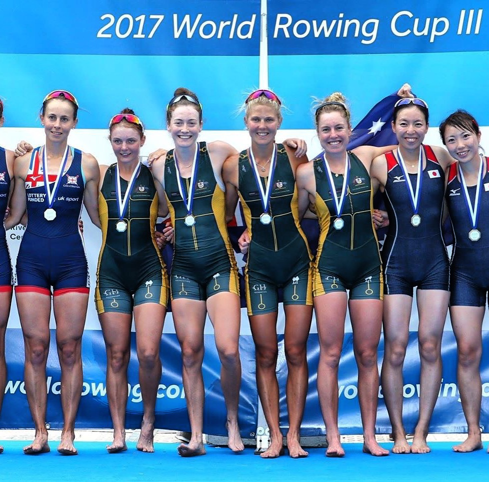 World Cup III - AUS Lightweight Women's Quad winning World Cup III, and setting a new world best time.JPG