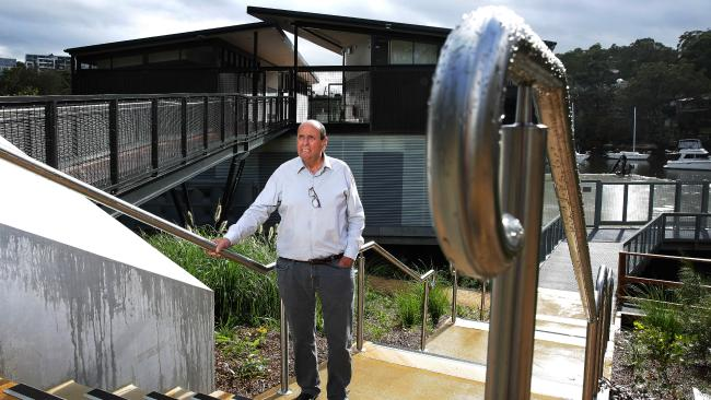 - Chris Noel who with Mike Wiseman worked with Campus Infrastructure Services and Sydney Uni Sport and Fitness on the Boatshed project at the new boathouse entrance.