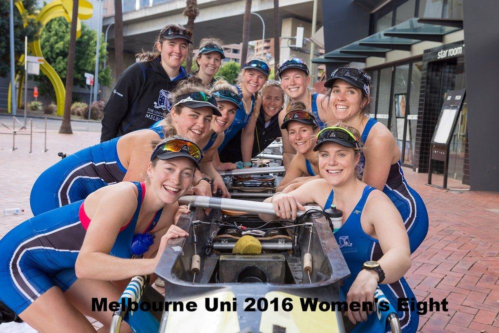 Melbourne's 2016 Women's Boat Race Crew -