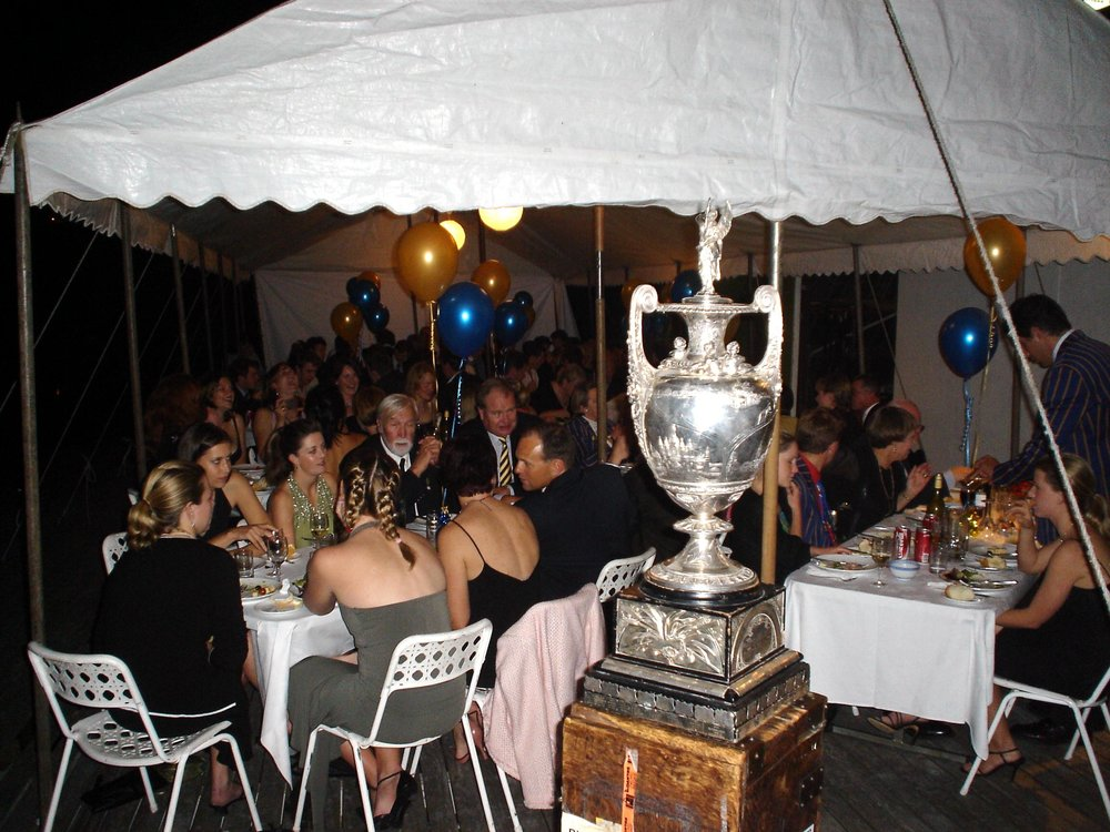 Flashback to the 2004 Annual Dinner - on the Pontoon at the old Boatshed
