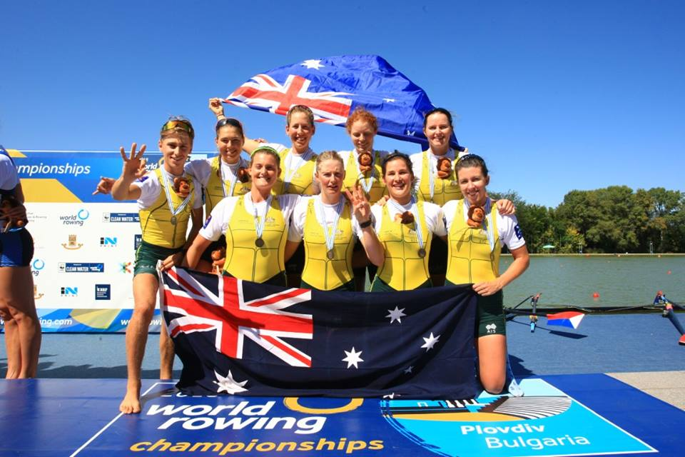 Australian 2018 Women's Eight - Bronze Medallists