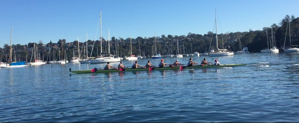 SUBC Winter Program 2018 Mens 8 Racing the NZ and SUBC Men's 8 in the July Trans Tasman Challenge.