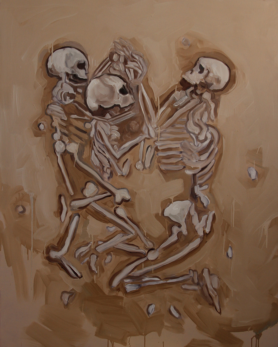 Untitled (Praying Skeletons)