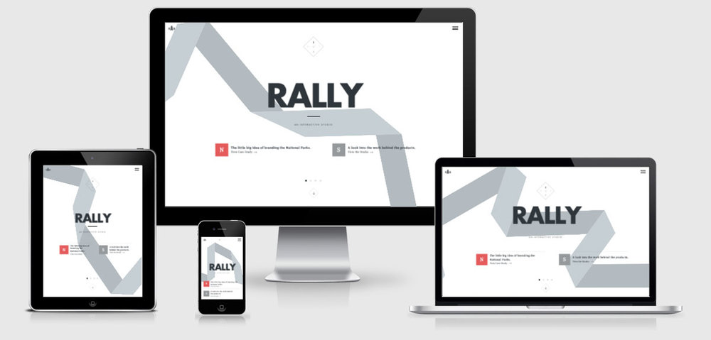 Examples of Personal Branding Web Design -  Rally Interactive