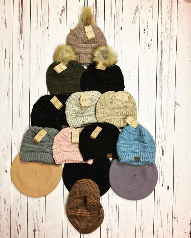 Feeling festive? Come in today for your CC Beanies. Open 10-6. #marisajillsboutique #southernsupermodel #buford #ccbeanie