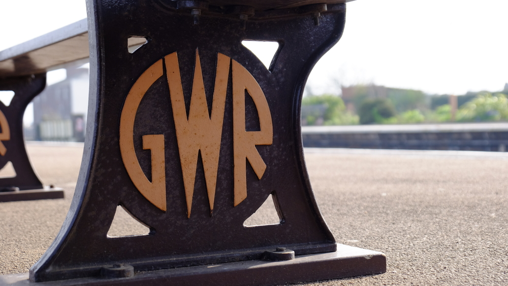Detail of one of the benches at Leamington Spa railway station