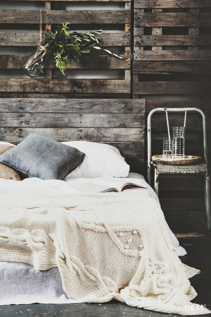 rustic, bedroom, bedlinen, white