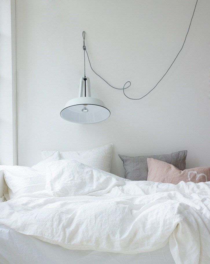 bed linen, bedroom, white, minimilistic
