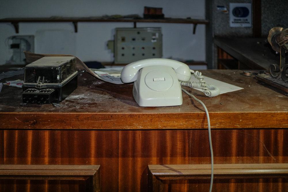 Reception desk.