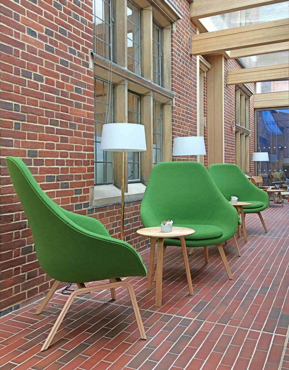 Bespoke furniture design & supply, Interior design & Lighting supply - The University of Cambridge, Jesus College Café