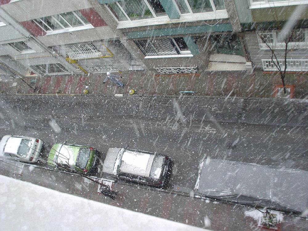 snow in kurtuluş