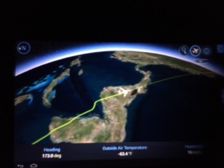 Our flight passes over Nicaragua en route to Santiago.
