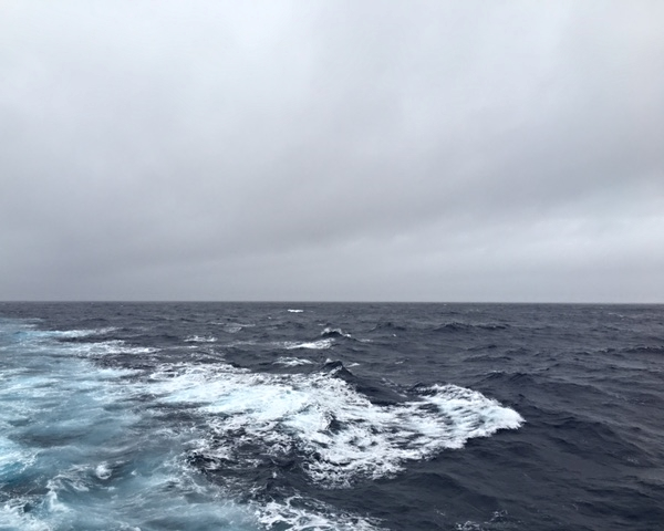 Calm waters on the Drake Passage.