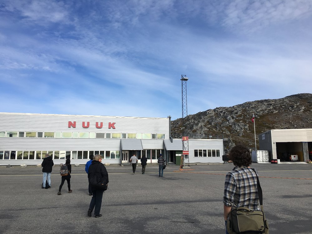Arrival at the Nuuk Airport.