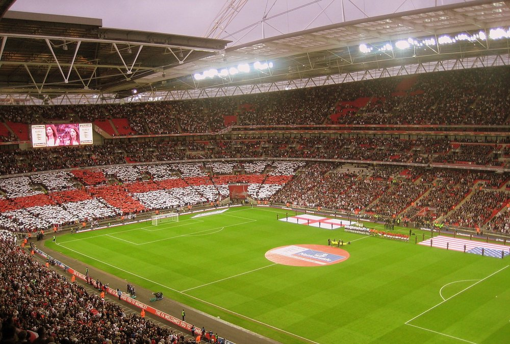 Two tickets to any England football game at Wembley in 2018 -