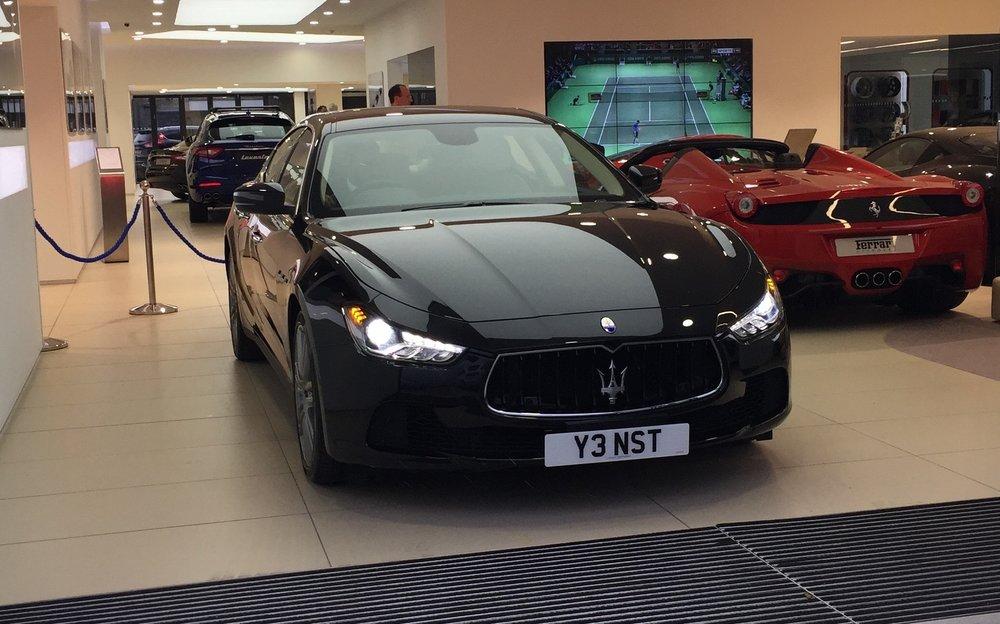 Chauffeur driven experience in a Maserati -