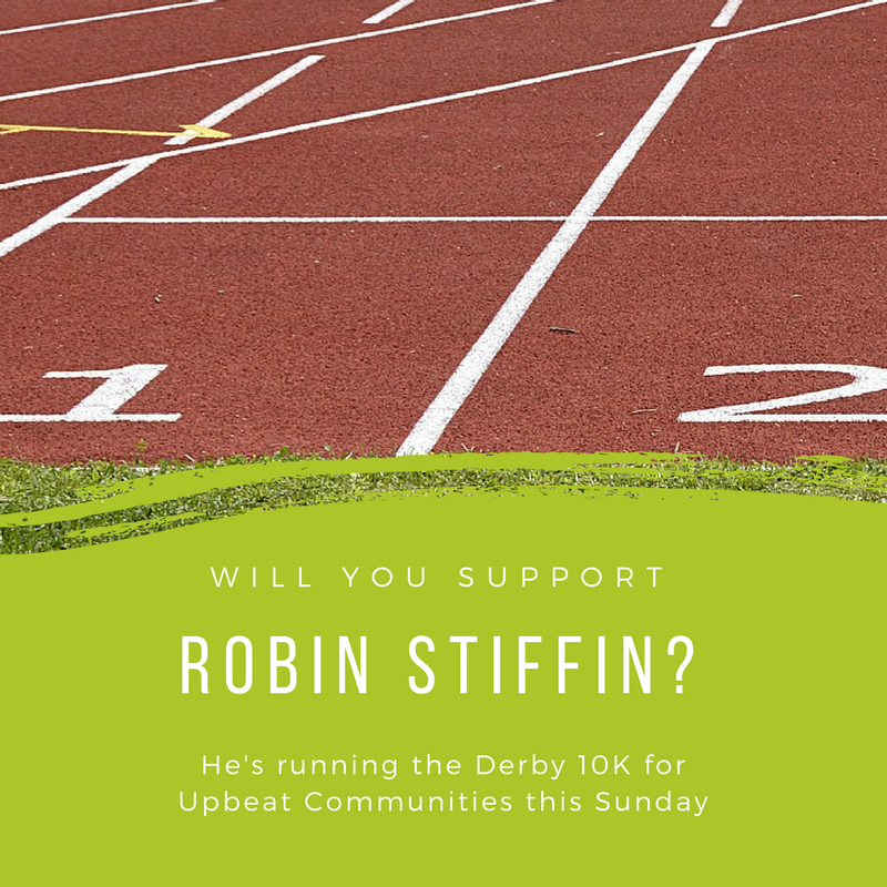 """Displaced people need all the help they can get"". That's why Robin Stiffin is going on regular jogs to prepare for Sunday:  justgiving.com/fundraising/rob-stiffin"