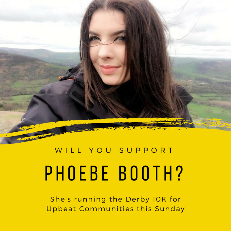 "Phoebe is our newest addition to the team, having only signed up last Friday! She's taking on this challenge because she ""wants to support refugees in Derby"":  justgiving.com/fundraising/phoebe-booth1"