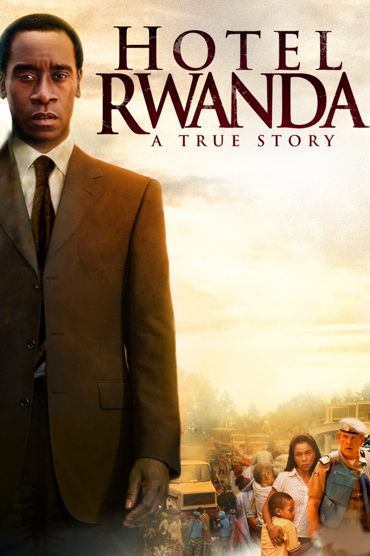 Hotel Rwanda - Sometimes known as the American Schinder's List and filmed in Rwanda and South Africa, Hotel Rwanda tells the true story of how hotel manager Paul Rusesabagina sheltered 1268 people fleeing from the Rwandan genocide of 1994. Listed by The American Film Institute of the 100 most inspirational movies of all time.