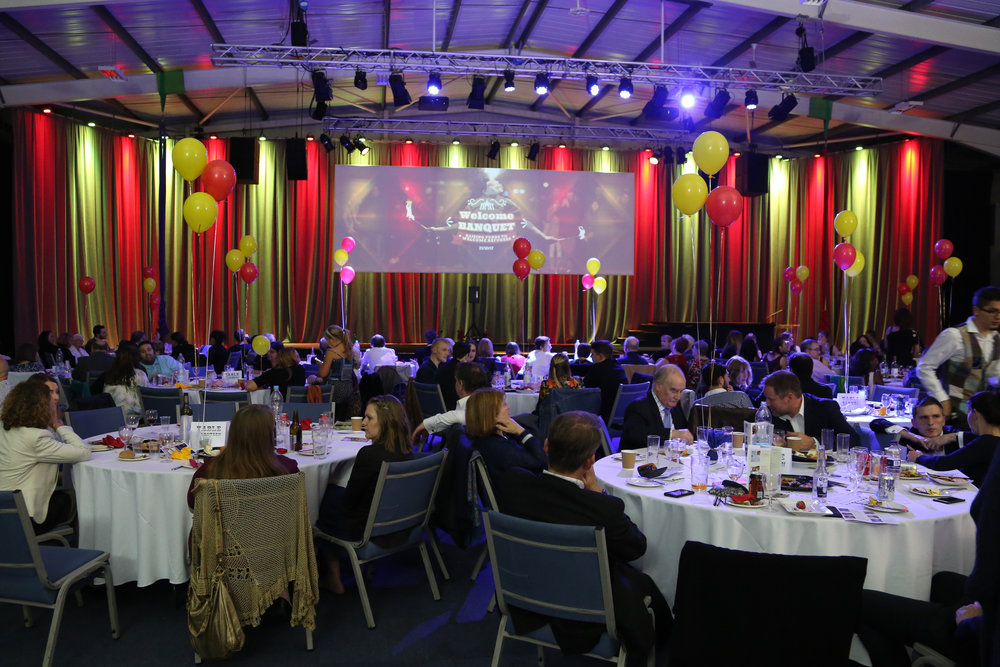 A photo of last year's Welcome Banquet