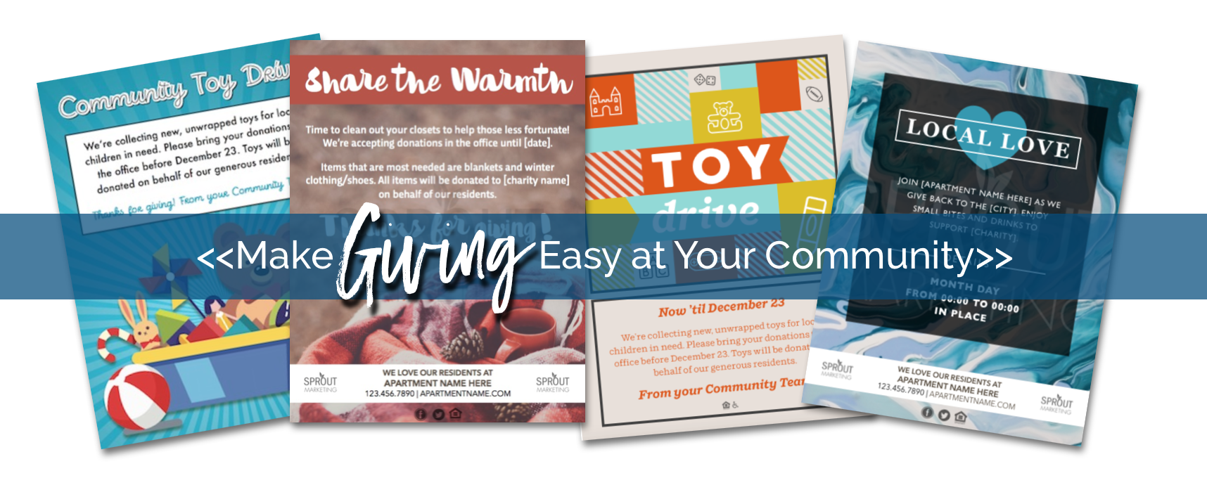 Make Giving Easy at Your Apartment Community — Sprout Marketing
