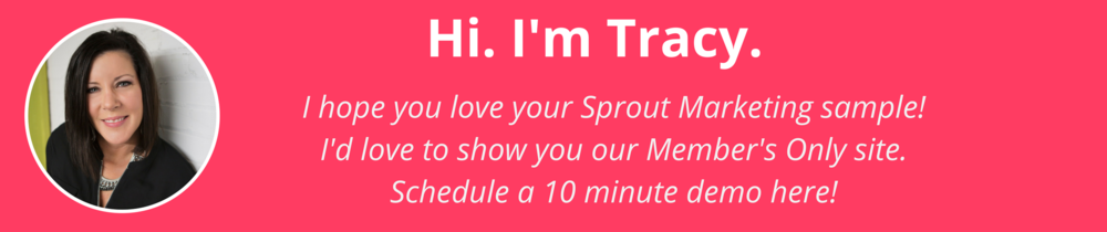 Tracy with Sprout Marketing