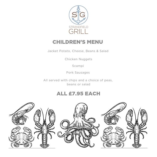 Here is our children's menu @standfieldgrillinstow ⠀ ⠀ We hope that this will satisfy those little tummies. There are also some great options in the light bites & desserts section of the main menu to choose from. ⠀ ⠀ Lunch is served 12-2. Light Bites until 3pm. ⠀ Dinner is served 6:30-9:00pm. You can order from the extensive menu and our evening specials menu. ⠀ ⠀ We hope to see you soon. ⠀ ⠀ #strandfieldgrillinstow #lunch #dinner #restaurant #instow #kidsmenu #kidsfood #kidsmeal #familyfeast #family #friends #newrestaurant #bideford #appledore #barnstaple #northdevon
