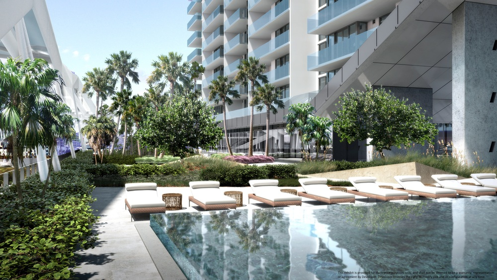 The Brickell City Centre offers 19,200 residential units with luxurious amenities such as heated social pool and spa