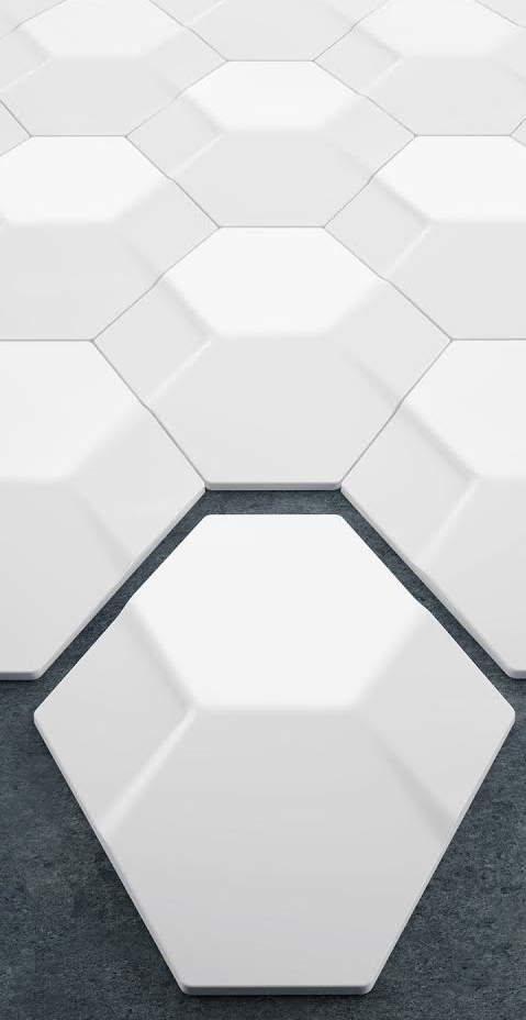 Nexus three-dimensional wall tiles by Yigit Ozer