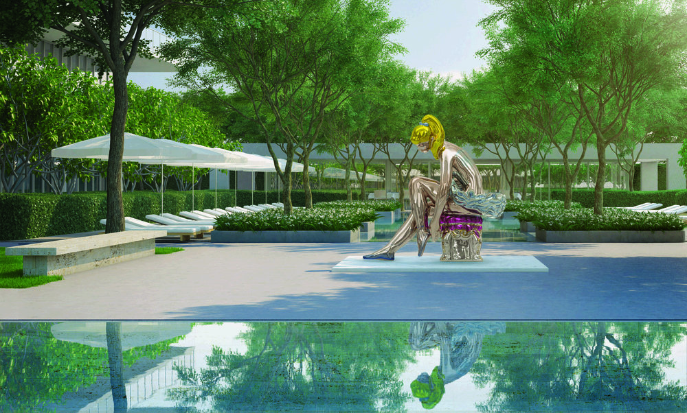 Jeff Koon's  Ballerina , purchased by Oceana Bal Harbour in Miami