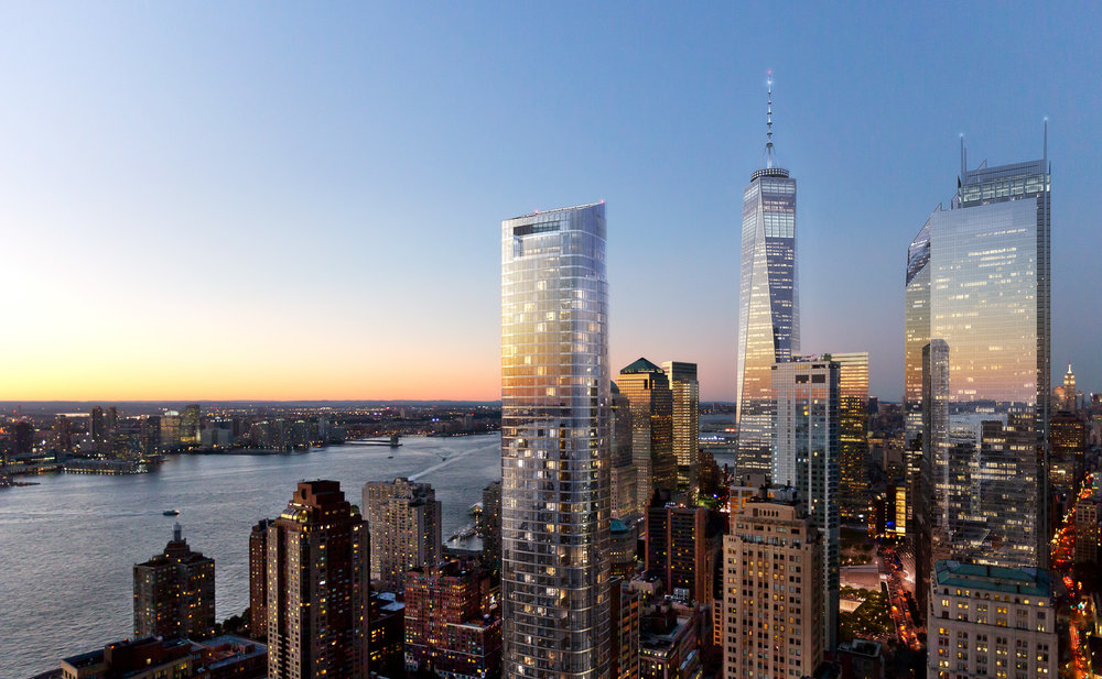 50 West in Manhattan has topped out