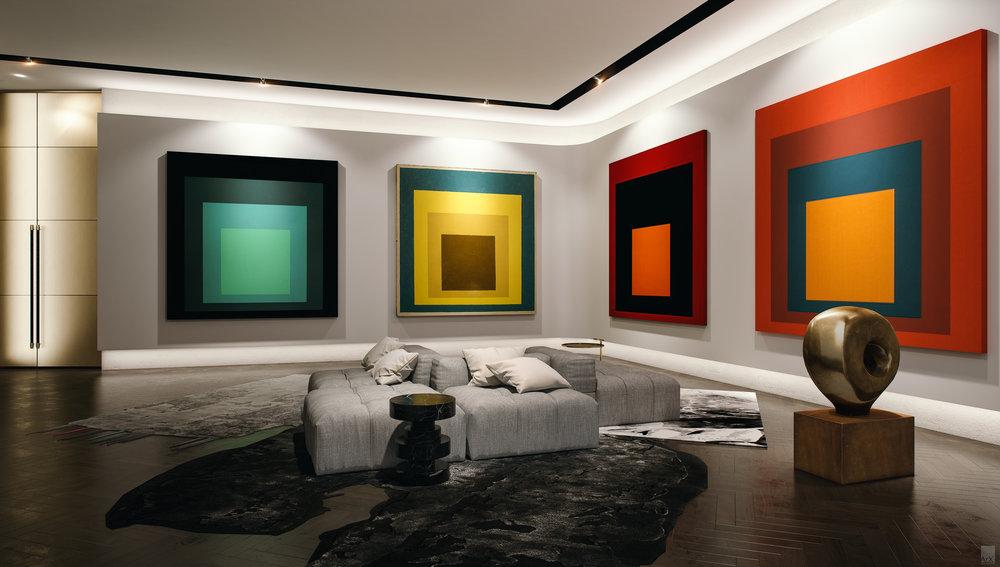 The art lounge of Miami's Park Grove luxury development