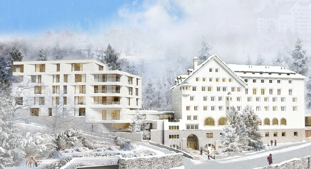The Grace St Moritz Apartments boast generous proportions