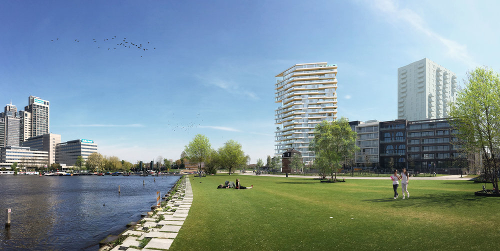 HAUT, a 21-storey building in Amsterdam could become one of the tallest wooden residential buildings