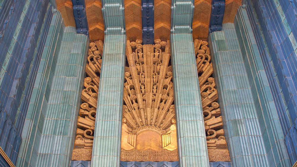 Art Deco detailing at the Eastern Columbia Building in Downtown LA