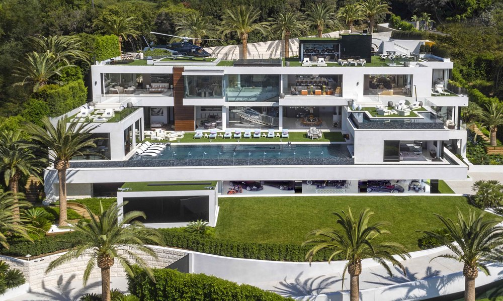 The Bel Air mansion features 38,000 sq ft of carefully curated living space