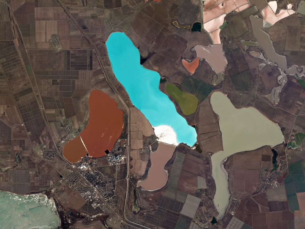 An image of Krasne Lake,Crimea, taken on December 14, 2016