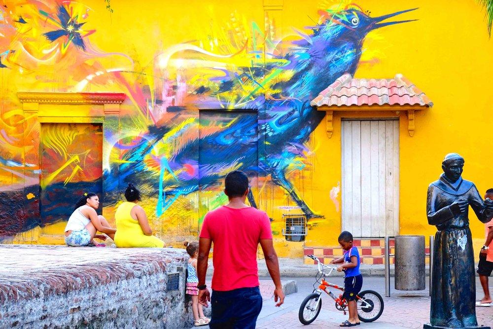 A mural in the Getsemaníneighbourhood of Cartagena. Photo courtesy of Galavanta
