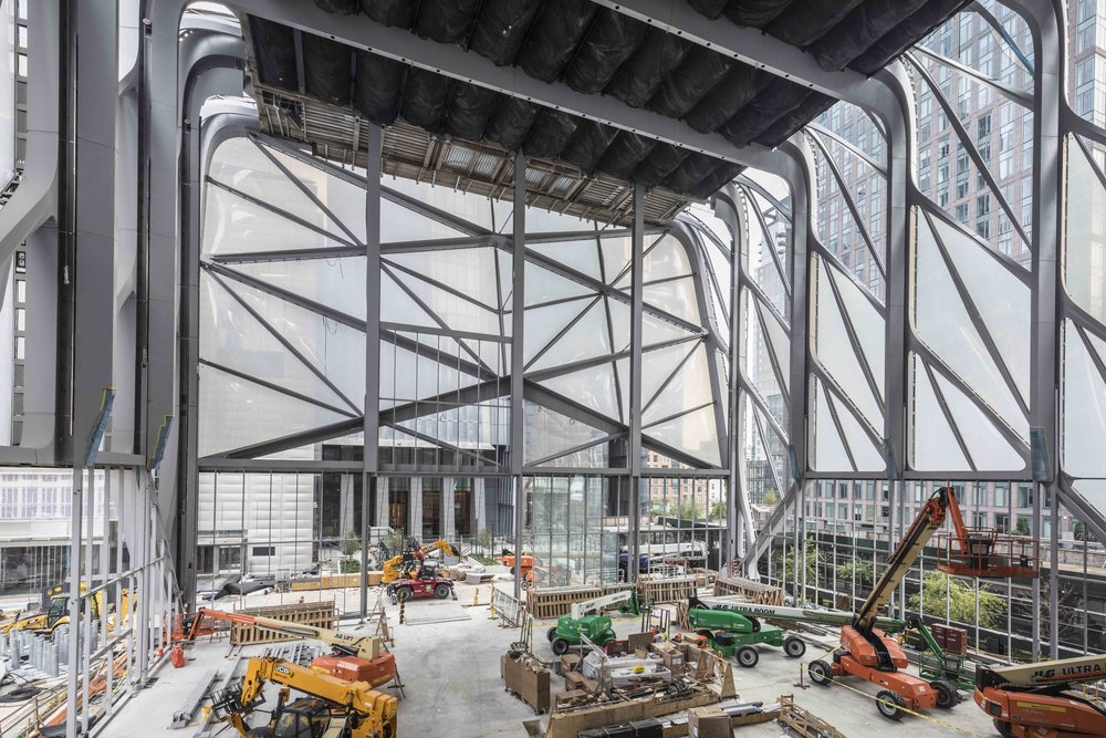 The Shed is currently under construction in Manhattan, photo by Brett Beyer