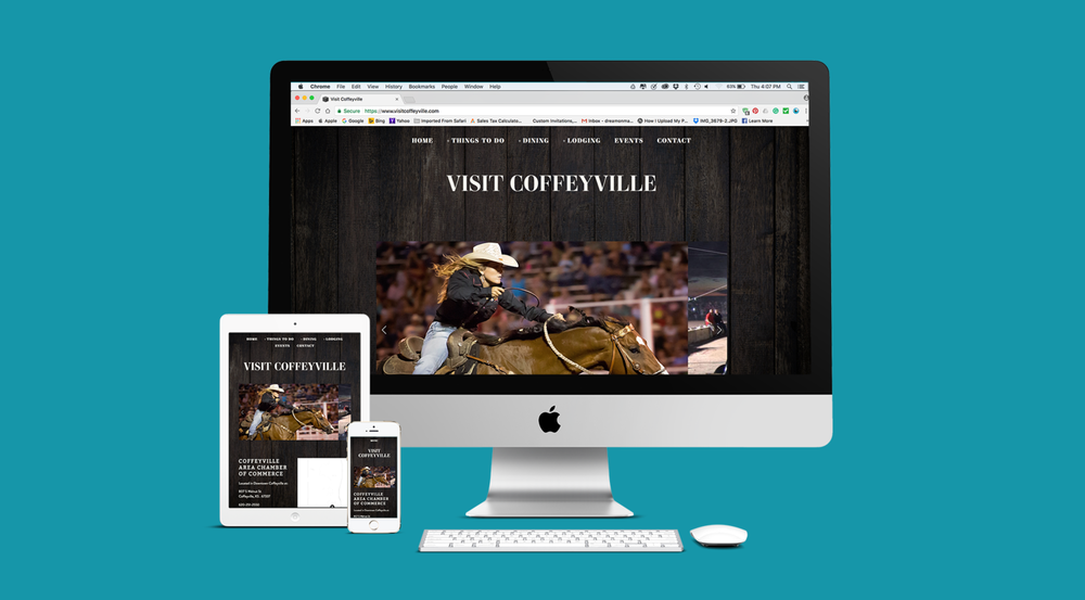 Dream On assists farms and ranches build websites that tell their story. Affordable website design for businesses in Coffeyville and Independence, Kansas.